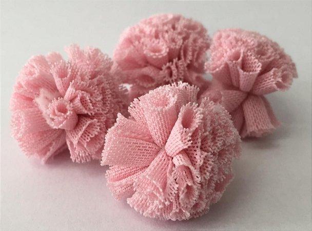 Pompom de Malha Tecido (2cm) c/10 un - Rosa