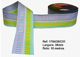 Fita Decorativa Retangular (38mm) - C01 Tons Pastéis