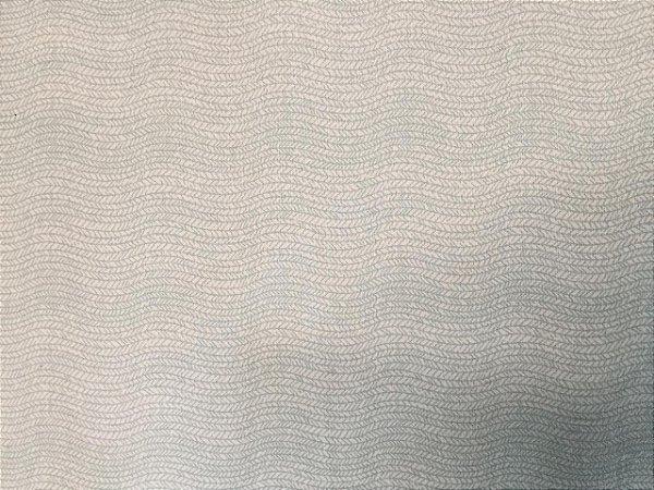 Tecido Tricoline Estampado Ondas LIstras Azul (Meio Metro)