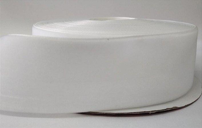 Fita de Veludo n°9(38mm) - Branco