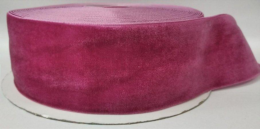 Fita de Veludo n°9(38mm) - Rosê