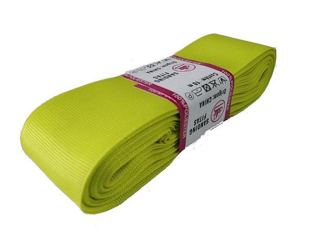 Fita de Gorgurão Sanding n°9(38mm) 10metros - Cor 96 Amarelo Canário