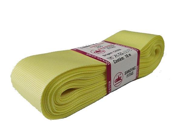 Fita de Gorgurão Sanding n°9(38mm) 10metros - Cor 288 Amarelo Claro
