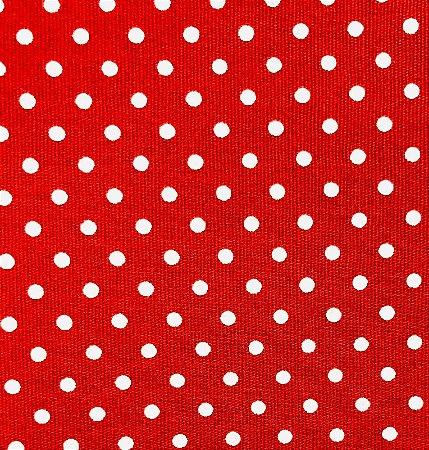 Tecido Tricoline Estampado Poá Vermelho (Meio Metro)