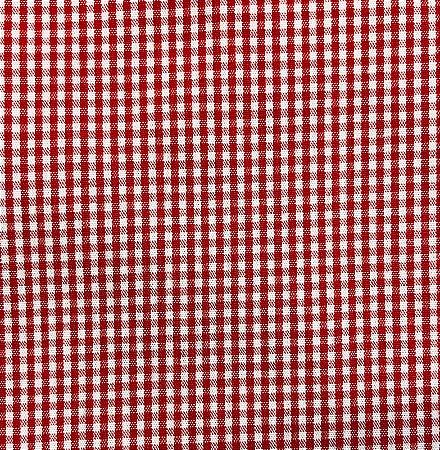 Tecido Tricoline Estampado Xadrez Vermelho (Meio Metro)