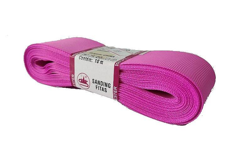 Fita de Gorgurão Sanding n°9(38mm) 10metros - Cor 199 Rosa Escuro