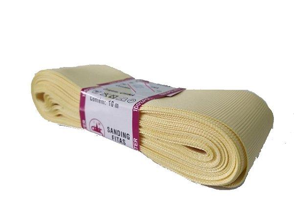 Fita de Gorgurão Sanding n°9(38mm) 10metros - Cor 111 Vanilla