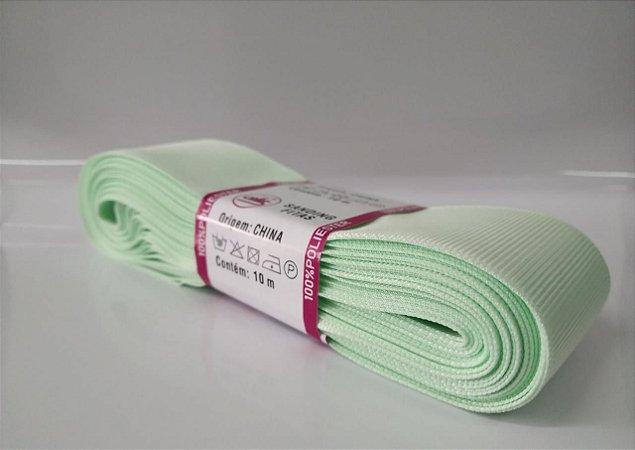 Fita de Gorgurão Sanding n°9(38mm) 10metros - Cor 94 Verde Bebê