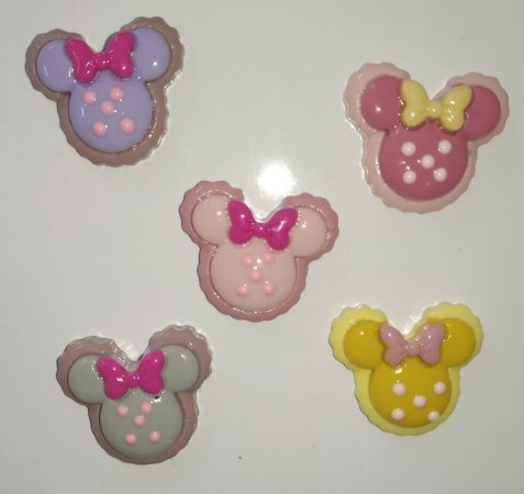 Aplique Plástico Minnie Sortidos