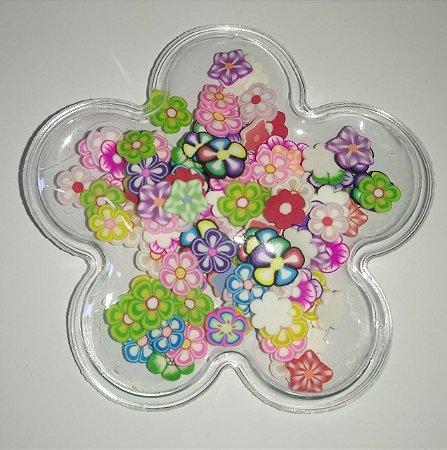 Aplique Plástico Transparente Flor
