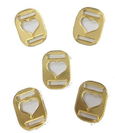 Aplique Dourado Coração