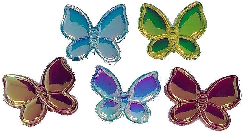 Aplique Borboletas Espelhadas - Pacote c/ 5 unidades