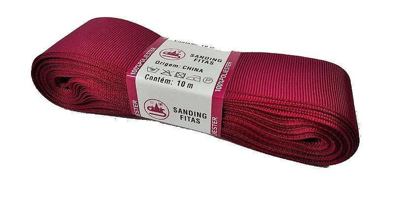 Fita de Gorgurão Sanding n°9(38mm) 10metros - Cor 44 Magenta