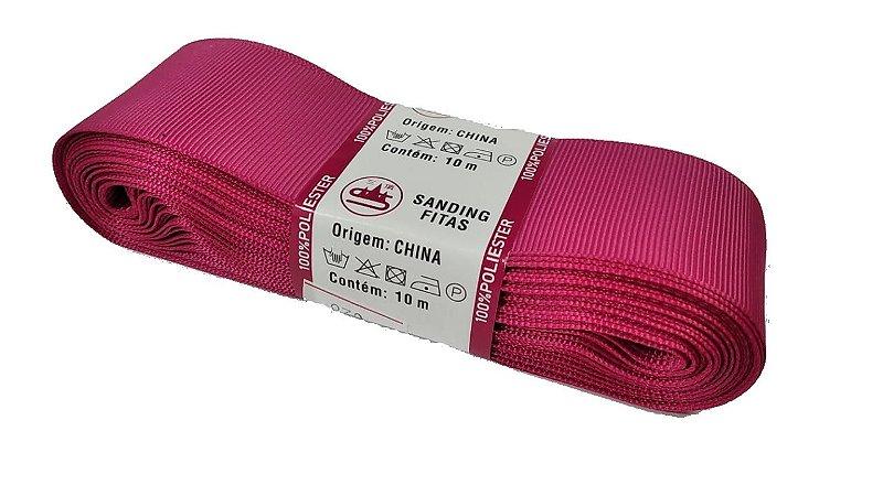 Fita de Gorgurão Sanding n°9(38mm) 10metros - Cor 28 Rosa Amaranto