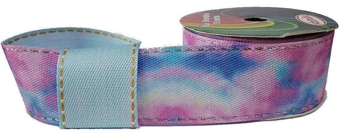 Fita Decorativa Jeans Tie Dye SINIMBU REF1823 C-01