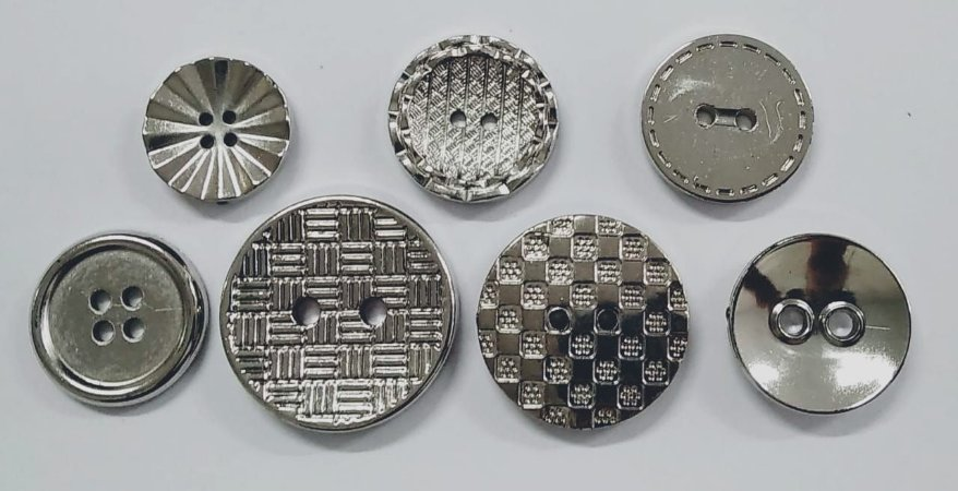 Botões Metálicos - Vários Modelos e Tamanhos