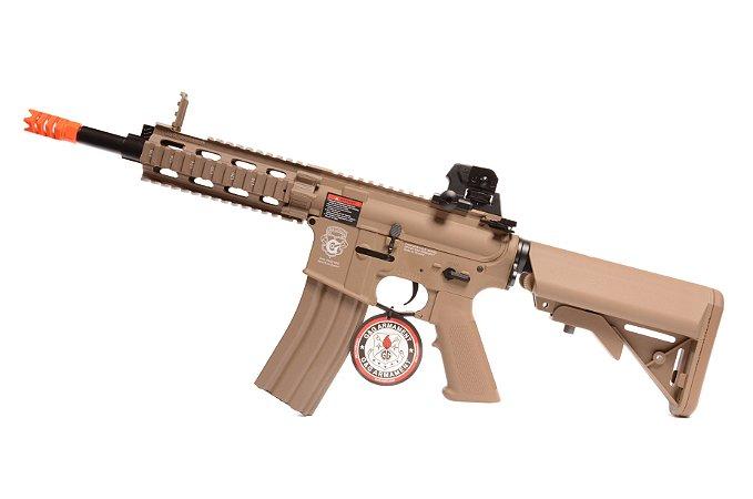 Rifle de Airsoft AEG - M4 GR16 CQW Rush TAN (CM16) Blowback G&G