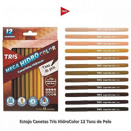 Caneta hidrográfica tons de pele com 12 cores Tris