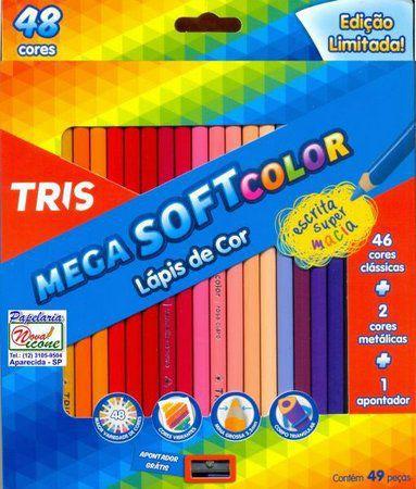 LAPIS DE COR C/48 MEGA SOFT 46+02