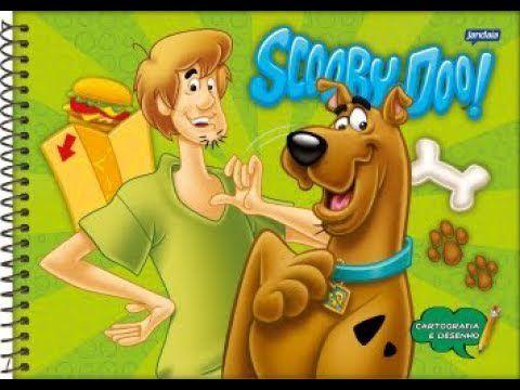 Caderno de desenho Scooby-Doo - 96 folhas - capa dura - Jandaia