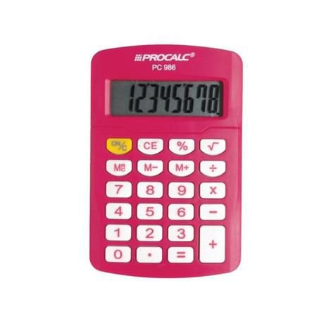 Calculadora Procalc - PC 986 - Vivid Colors - pink