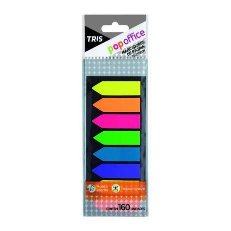 Marcadores de páginas T008 Neon - 160 unidades - Popoffice - Tris