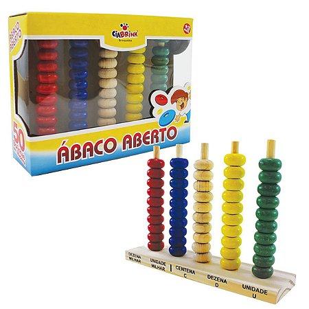 Ábaco aberto - 50 argolas plásticas - Ciabrink