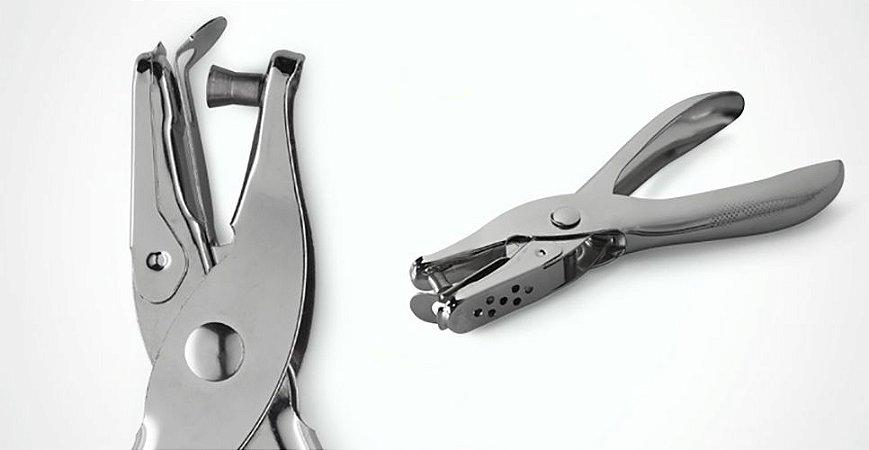 Perfurador alicate metálico - PF0001 - furos de 6mm - p/até 8 fls - BRW