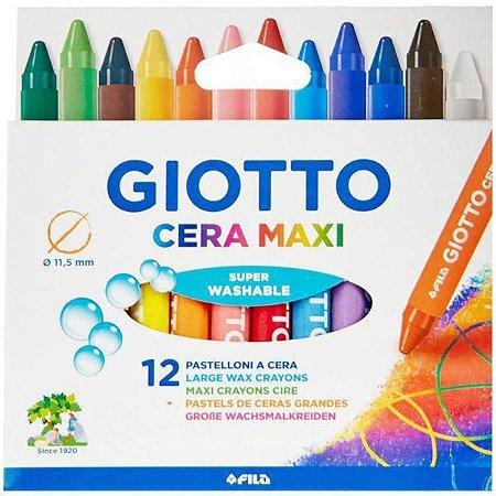 Giz de cera Maxi - 12 cores - Giotto