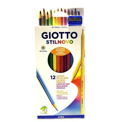 Lápis de cor 12 cores - Giotto