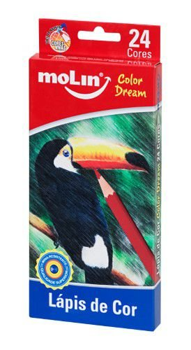 Lápis de cor 24 cores - Color Dream - Molin