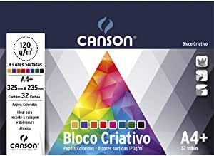 Bloco colorido Criativo Cards - 325mm x 235mm - 120g/m2 - 32 folhas - 8 cores - Canson