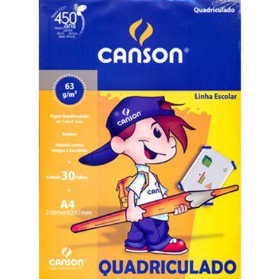 Bloco papel quadriculado - A4 - 30 folhas - 63g/m2 - Canson