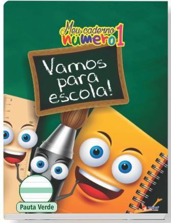 Caderno pauta verde - 40 folhas - 248mm x 190mm - 70g/m2 - Tamoio