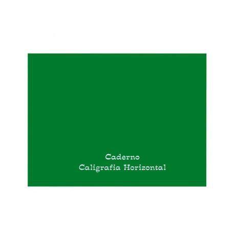 Caderno de caligrafia horizontal - 96 folhas - 150mm x 206mm - 56g/m2 - verde - Tamoio