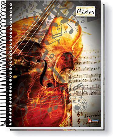 Caderno de Música - 208mm x 153mm - 64 folhas - 63 g/m2 - espiral - Tamoio