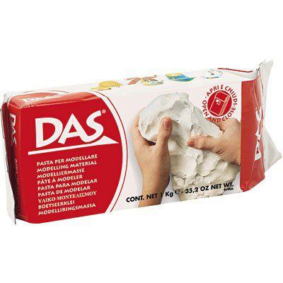 Massa para modelar cerâmica fria DAS - branca - 500g - Fila