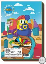 Papel colorset colorido - 150g/m2 - 40 folhas - Credex colorido - Credeal