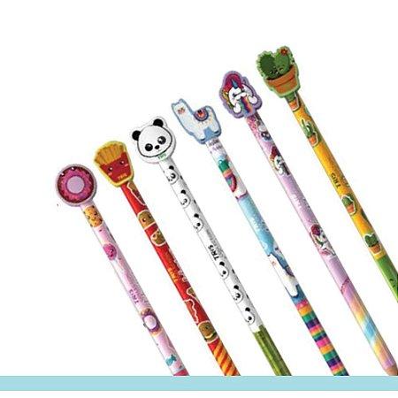 Lápis preto decorado com borracha na ponta - Collection Fofurices - Tris