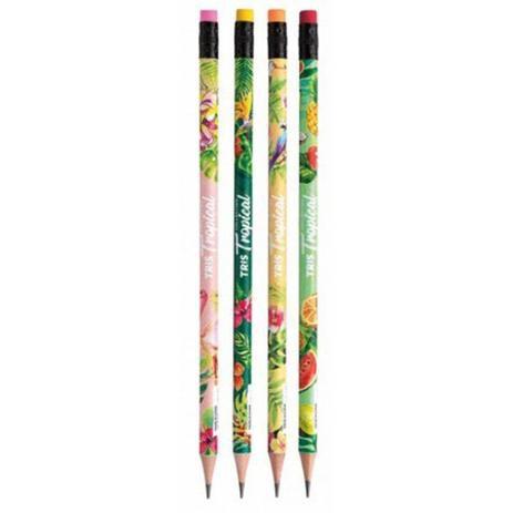 Lápis preto decorado com borracha Collection Tropical - Tris
