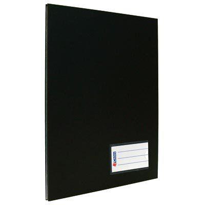 Pasta catálogo ofício com colchete - 10 sacos - preta - Chies