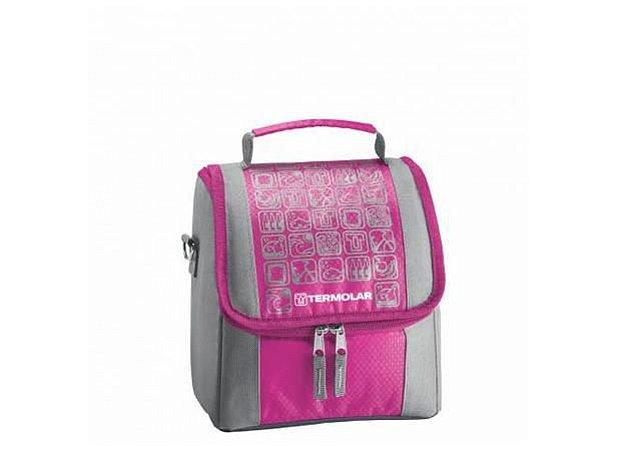 Bolsa térmica Termo Bag - com alça - 5 litros - rosa e azul - Termolar