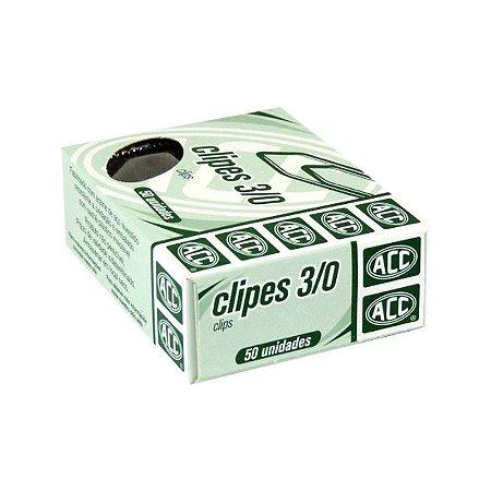 Clipes 3/0 - niquelados - 50 unidades - ACC
