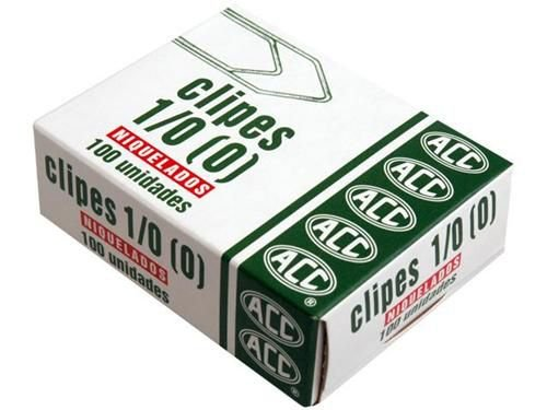 Clipes 1/0 - niquelados - 100 unidades - ACC