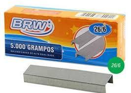 Grampo p/ grampeador - 26/6 - galvanizado - 5000 unidades - BRW