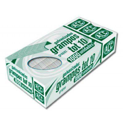 Grampo p/ grampeador - Tot 10 - galvanizado - 1000 unidades - ACC