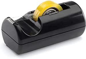 Dispensador de fitas adesivas Maxxi - preto - 10,1cmx9,4cmx18,5cm - Waleu