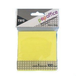 Notas autoadesivas T004 - amarelo - 101mmx76mm - 100 folhas - Pop Office - Tris