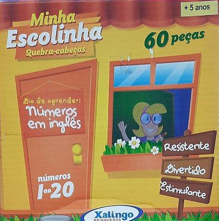 Números em Inglês - Quebra-cabeça - 1 a 20 - 60 peças - Xalingo