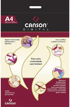 Papel Marfim Pérola - 250g/m2 - A4 - 15 folhas - Canson Digital
